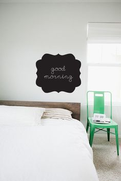 For the kitchen cabinets! Oranate Frame   CHALKBOARD  WALL DECAL by TheLovelyWall on Etsy, $22.00