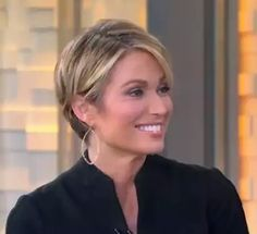 """Amy Robach Dominates Cancer with """"I Feel Free"""" Hair Cut Amy Robach, Cute Curly Hairstyles, Curly Hair Styles, Short Hair Long Bangs, New Haircuts, Medium Hair Cuts, Grunge Hair, Free Hair, Hair Today"""