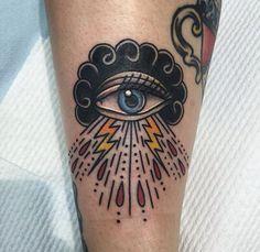 #tattoo #occhio #fulmini