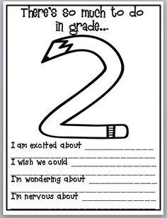 back to school ideas...modify for any grade level.
