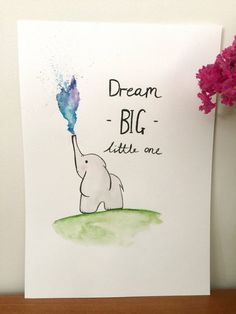 Add some colour and cuteness to a special little persons space with this adorable watercolour painting. This item is NOT a print, each item