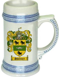 Sweeney Coat of Arms / Family Crest stein mug - $21.99