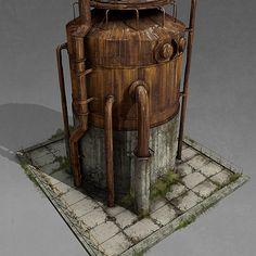 Rust - Radtown Buildings, Howard Schechtman on ArtStation at… Terrain 40k, Wargaming Terrain, Prop Design, Game Design, Apocalypse Art, Game Props, 3d Texture, Cg Art, Environment Concept Art