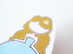 Pinza con ilustración personalizable princesa bebé. www.ilustracionesilustres.com