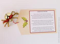 The Christmas Spider DIY : Free Poem Printable Christmas Spider, Christmas Bells, Diy Christmas Ornaments, Christmas Angels, Crochet Ornaments, Crochet Snowflakes, Christmas Flowers, Xmas, Christmas Craft Fair