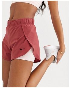 Cute Workout Outfits, Workout Attire, Cute Casual Outfits, Workout Wear, Nike Outfits, Fashion Outfits, Nike Shorts Outfit, Sport Shorts, Nike Athletic Outfits