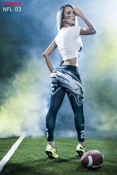 Show your love for the Philadelphia Eagles in these exclusive leggings made from…