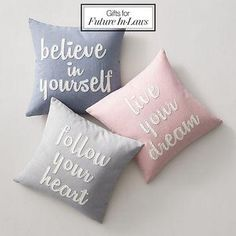 The perfect gifts for your future in-laws: cute throw pillows