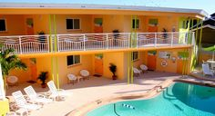 The pool area at Frenchy's Oasis Motel in Clearwater Beach, Fla. (From: Secret Hotels of Florida's Gulf Coast)