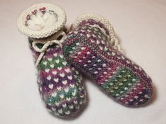Ravelry: Project Gallery for Newfoundland Thrum Boot Slippers pattern by Wool Trends