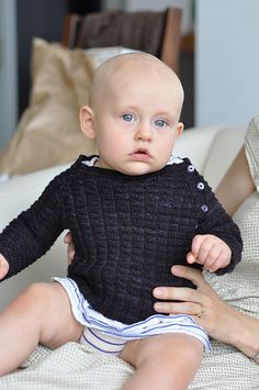 Ravelry: Tadpole's Purple Sweater pattern by Tinks and Frogs Rue  *Free Pattern.. in navy for boy