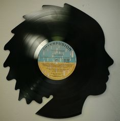 Recycled record art