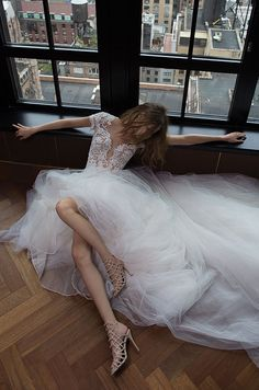 High fashion meets bridal wear with the design debut of Berta Fall 2016 wedding dresses this season composed of avant-garde techniques and textures. Lace Wedding Dress, 2016 Wedding Dresses, Bridal Dresses, Wedding Gowns, Wedding Blog, Wedding Dj, Fall Dresses, Trendy Wedding, Bridal Musings