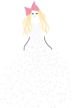 Dot dress fashion illustration Brooke Costello