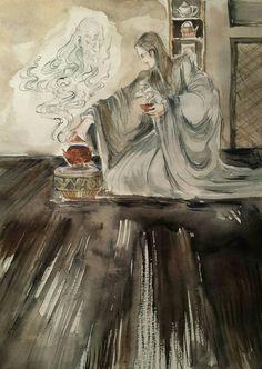 Illustrator Career, Supernatural Art, Old Master, Ink Painting, Surreal Art, Watercolor And Ink, Haiku, Deities, Faeries