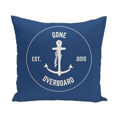 Hancock Gone Overboard Word Outdoor Throw Pillow