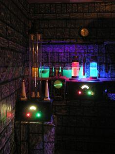 "My Classic Monsters Halloween Display "" Frankenstein's Lab"""