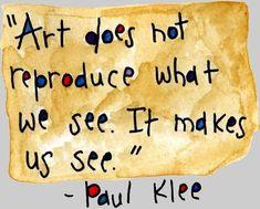 Best 20 Paul Klee Quotes on art – SurvivalPioneer Paul Klee, Artist Quotes, Quotes For Artists, Famous Artists, Creativity Quotes, Quote Art, Art Classroom, Teaching Art, Beautiful Words