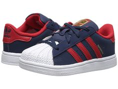 adidas Originals Kids Superstar (Toddler) Collegiate Navy/Scarlet/White - Zappos.com Free Shipping BOTH Ways