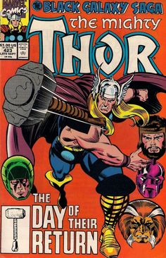 "Thor vol.1 # 423, ""The Day of Their Return"" (September, 1990). Cover by Ron Frenz & Joe Sinnott."