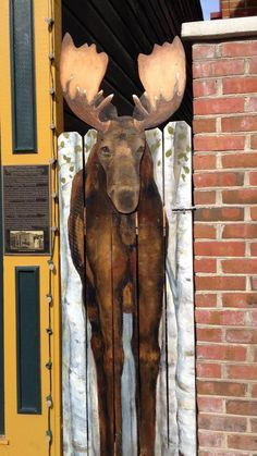 Aaaww, who wouldn't want a Moose door? Moose Decor, Moose Art, Moose Pictures, Moose Lodge, Doors Galore, Creation Deco, Unique Doors, Grand Entrance, Westerns