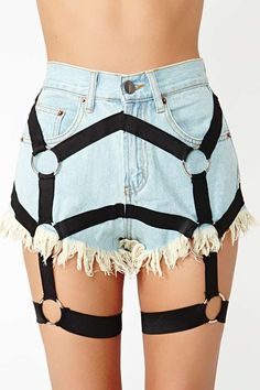 Bitching And Junkfood Harness Cutoff Shorts - can't wait till these arrive in the mail!!