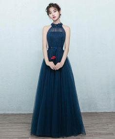 Description Simple blue tulle long prom dress, blue tulle bridesmaid dress,Customized service and Rush order are available Navy Prom Dresses, Casual Formal Dresses, Tulle Bridesmaid Dress, Blue Evening Dresses, Tulle Dress, Pretty Dresses, Wedding Dresses, Simple Cocktail Dress, Different Dresses