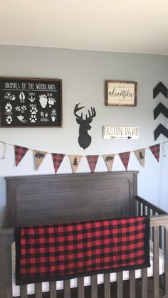 Baby boy wilderness nursery