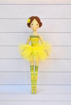 ballerina Doll, Textile doll, decorative doll,collectible dolls , doll cotton…