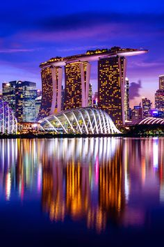 The best photos of the world Amazing Architecture, Modern Architecture, Living In Denver, Beautiful Buildings, Marina Bay Sands, Night Light, Singapore, Cool Photos, Community
