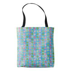 Cute Pastel Pink Blue Green Polka Dot Bag