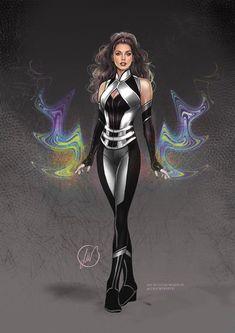 Superhero Costumes Female, Superhero Suits, Superhero Design, Super Hero Outfits, Super Hero Costumes, Fantasy Character Design, Character Design Inspiration, Dr Marvel, Warrior Outfit