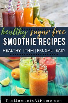 More than a dozen healthy, sugar free smoothies to enjoy this summer! THM FP, TH. Diabetic Smoothie Recipes, Fruit Smoothie Recipes, Apple Smoothies, Healthy Smoothies, Healthy Drinks, Healthy Recipes, Thm Recipes, Stevia Recipes, Diabetic Meals