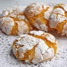 Biscuits craquelés au citron et noix de coco