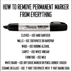 Sharpie Removal tips