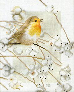 Robin Cross Stitch Kit By Marjolein Bastin for Lanarte