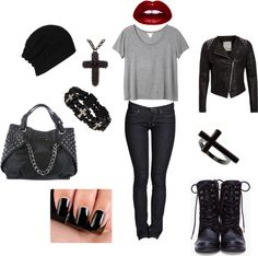 """""""Grundge"""" by stopnowlook ❤ liked on Polyvore"""