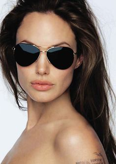 Angelina Jolie. Her eyes are beautiful but I just love the shades!