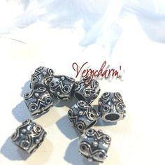 Perle charm feuille retro pour bracelet