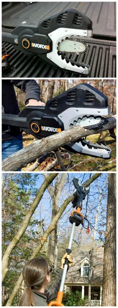 Looking very much like the xenophobe from the Alien movies, the Worx JawSaw is the safe and easy way to prune limbs; clear storm debris; or cut kindling for fire wood. #affiliate
