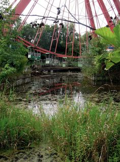 This is the Ferris wheel John Green vlogged in front of. Abandoned amusement park outside of Berlin, Germany.