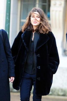 Charlotte Casiraghi goes to Cartier exposition at 'Grand Palais' in Paris. 1/14/2014