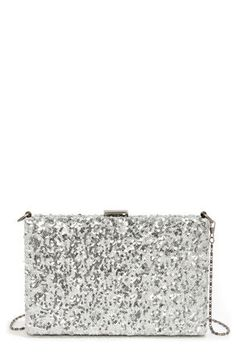 2311199432 Hide and Sequin Silver Sequin Clutch