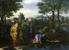 Nicolas Poussin, Moïse sauvé des eaux, 1654