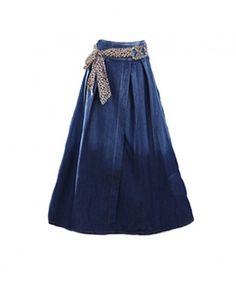 Oversized Full Maxi Skirt with Waist Belt