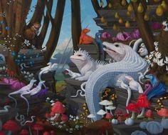 Juxtapoz Magazine - Bright, Bizarre, Beautiful: Paintings by Laurie Hogin Diorama, Modern Art, Contemporary Art, Lowbrow Art, Arte Popular, Realism Art, Pop Surrealism, Art Fair, American Artists