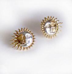 Vintage Sergio Bustamante Earrings Eclipse by FairfaxDavis on Etsy