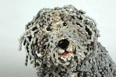 Woof - Bicycle chain art sculpture