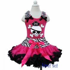 Little Miss Pirate Tutu Set-Designer Girls tutu Set
