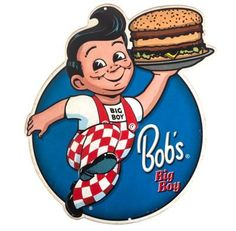 Open Road Brands Bob's Big Boy Embossed Die-Cut Tin Sign